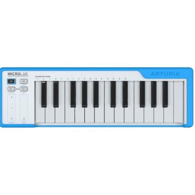 Arturia MicroLab Compact 25-Key USB Midi Controller, Blue