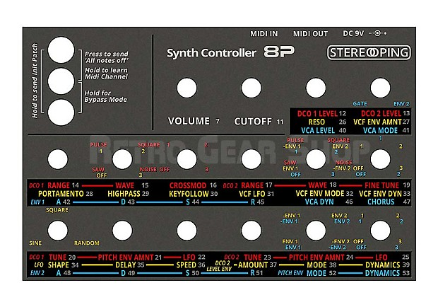 stereoping ce 1 midi controller for roland jx 8p jx8p rare reverb. Black Bedroom Furniture Sets. Home Design Ideas