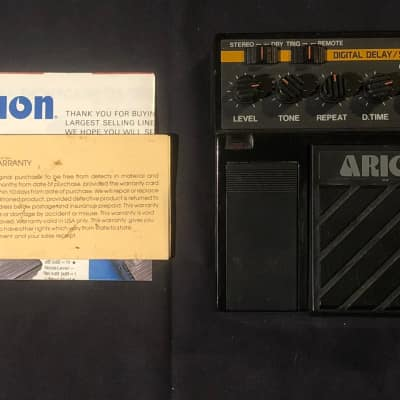 Arion DDS-1 Digital Delay/Sampler Rare Vintage Guitar Effects Pedal MIJ w/ Original Box, Manual, etc. Black for sale