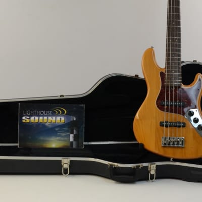 2008 Fender American Deluxe Jazz Bass V 5-String - Amber w/OHSC for sale