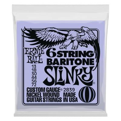 Ernie Ball Slinky 6-String W/ Small Ball End 29 5/8 Scale Baritone Guitar Strings - 13-72 Gauge 2839
