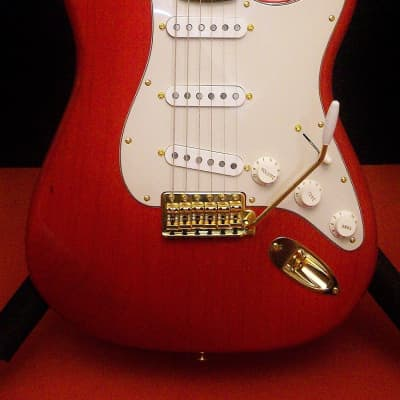 Fender Special Edition Fat 50s Stratocaster Trans Red/Gold ~ Lightwt Ash ~ NEW CASE and Electronics for sale