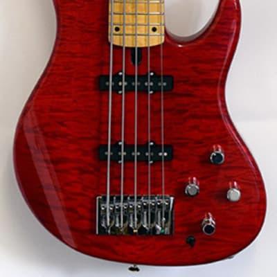 Mike Lull BBM5 Bryan Beller Bass Trans Red #3030 for sale