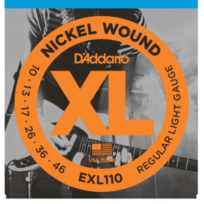 D'Addario EXL110 Nickel Wound Guitar Strings, Regular Light, 10-46