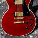 "Gibson Les Paul Custom 2004 ""Custom Shop"" Ltd. Edition w/a Flame Top in a see-thru Wine Red !"
