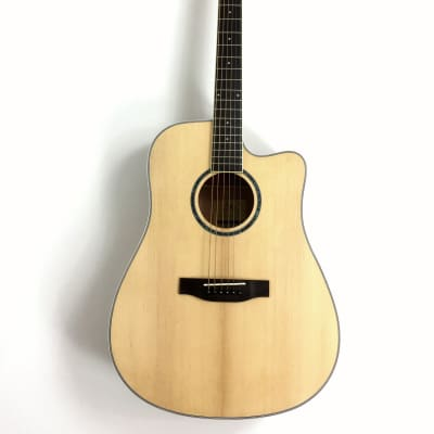 Haze Dreadnought Spruce Solid top Acoustic Guitar Natural CD60SCN for sale