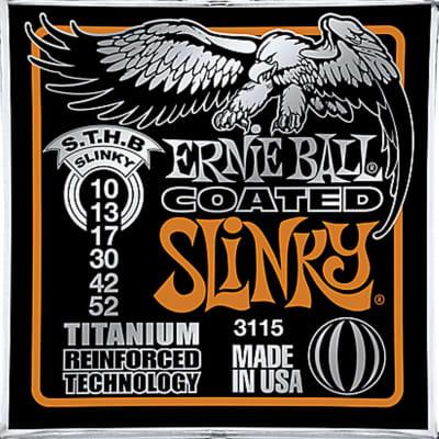 Ernie Ball 3115 Coated Titanium Skinny Top/Heavy Bottom Electric Guitar (10-52)