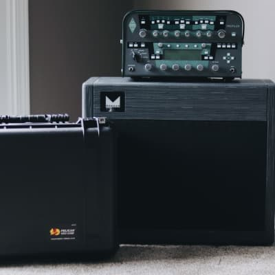Kemper Profiler Power Head - 600-watt // Morgan Amps 75-watt 1x12 Cab // Pelican 1550 Travel Case for sale