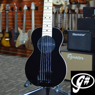 G-Sharp OF-1 Tenor Travel Guitar, Black (g# tuning, comes w/ gig bag) for sale
