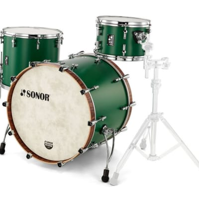 "Sonor SQ1 3pc Shell Pack w/ 24"" Bass Drum Roadster Green"