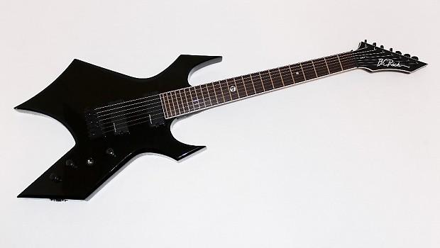 bc rich warlock wgl7bk lucky 7 electric guitar black reverb. Black Bedroom Furniture Sets. Home Design Ideas