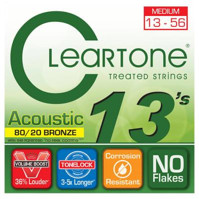 Cleartone 7613 80/20 Bronze Medium Strings 13-56