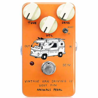 Animals Vintage Van Driving Is Very Fun Overdrive Guitar Effects Pedal
