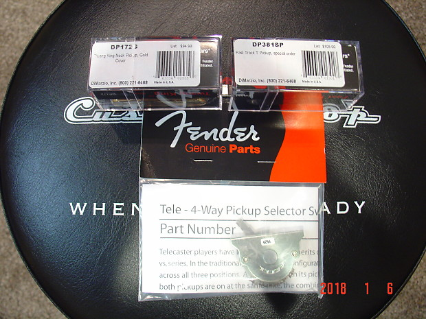 dimarzio fender dp381sp dp172 telecaster pickups 4 way selector switch gold and black