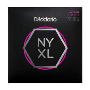 D'Addario NYXL32130 Long Scale Nickel Wound 6-String Bass Strings - Light (32-130)