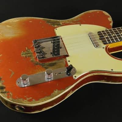 Fender Custom Shop Custom '60 Telecaster Custom Super Heavy Relic - Candy Tangerine (505) for sale