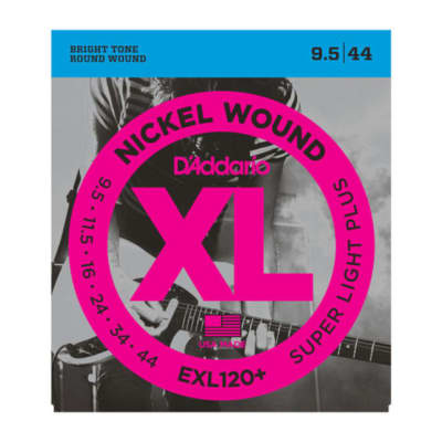 D'Addario EXL120+-3D Nickel Wound Electric Guitar Strings, Super Light Plus, 9.5-44, 3 Sets