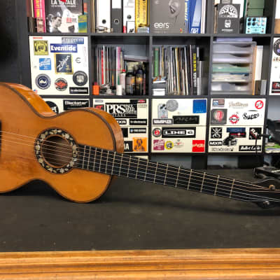 THIBOUVILLE-LAMY Guitare Romantique 1875-1885 Antique Natural for sale