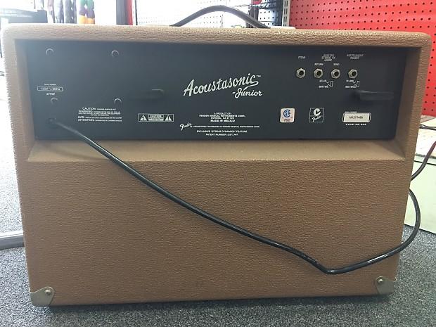 fender acoustasonic jr 80 watt 2x8 combo brown family music reverb. Black Bedroom Furniture Sets. Home Design Ideas