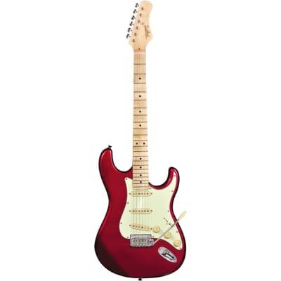 Tagima T635 Guitar, Maple Fretboard, Metallic Red w/ Mint Pickguard (B-STOCK) for sale