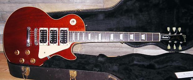 2002 Gibson Les Paul Standard Mahogany Top 3 Pickups   Reverb