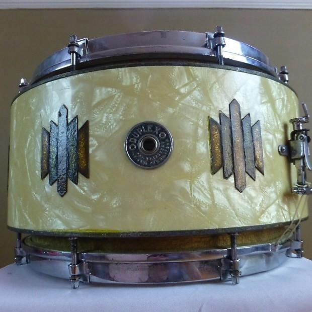 vintage 1930 39 s duplex aluminum snare drum 13x8 st reverb. Black Bedroom Furniture Sets. Home Design Ideas