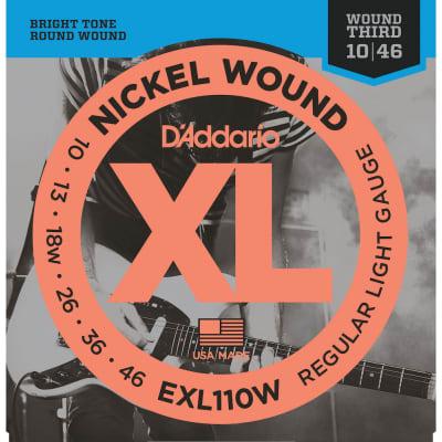 D'Addario #EXL110W - XL Regular Light Gauge Electric Strings, Wound Third, 10-46