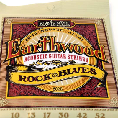 Ernie Ball Guitar Strings Acoustic Earthwood Rock & Blues 10-52 2008