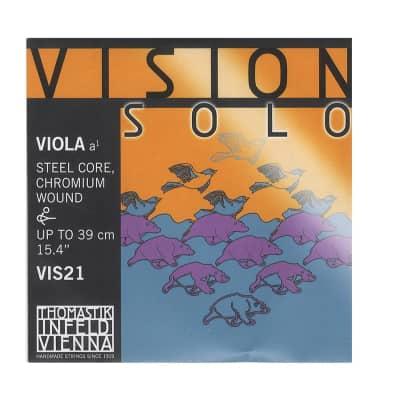 Thomastik-InfeldVIS21 Vision Solo Chrome-Wound Carbon Steel 4/4 Viola Strings - A (Medium)