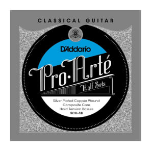 D'Addario SCH-3B Pro-Arte Silver Plated Copper on Composite Core Classical Guitar Half Set Hard Tension