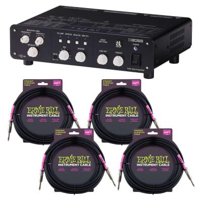 Boss WAZA Tube Amp Expander, (4) ErnieBall Guitar Cable P06048 Bundle