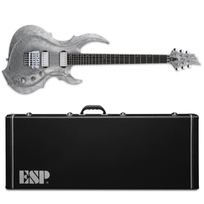 ESP FRX Liquid Metal Silver Electric Guitar + Hard Case MIJ for sale
