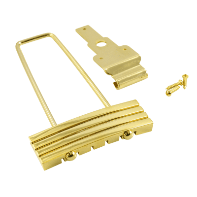 Kluson #6 Trapeze Tailpiece for archtop guitar Gold