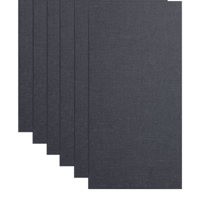 """Primacoustic Broadway 2"""" Broadband Absorber Acoustic Wall Panel 6-pack - Black w/ Square Edge"""