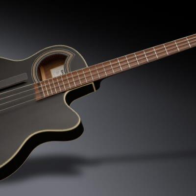 Warwick RockBass Alien Deluxe Hybrid Thinline, 4-String - Solid Black Satin
