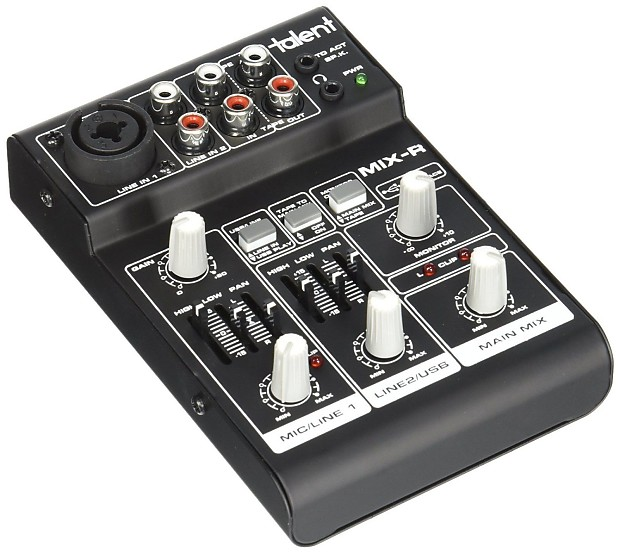 audio mixer mini portable 3 channel usb interface xlr 1 4 reverb. Black Bedroom Furniture Sets. Home Design Ideas
