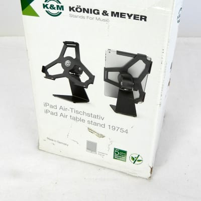 K&M 19754 iPad Air Table Stand Black