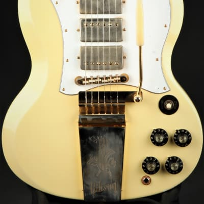 Gibson Custom Shop Limited Edition Jimi Hendrix 1967 SG Custom Aged Polaris White #24 of 150