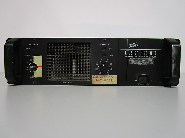 peavey cs 800 stereo power amplifier for parts or repair reverb. Black Bedroom Furniture Sets. Home Design Ideas