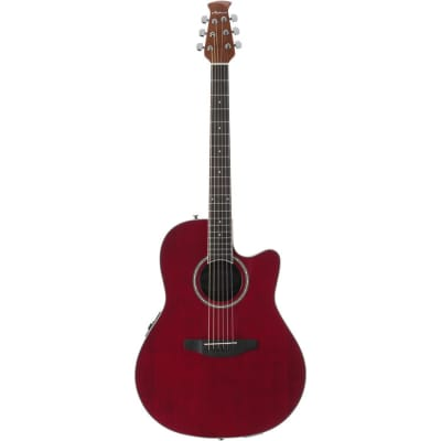 Ovation Applause Balladeer AB24II Acoustic/Electric Guitar (Ruby Red) for sale
