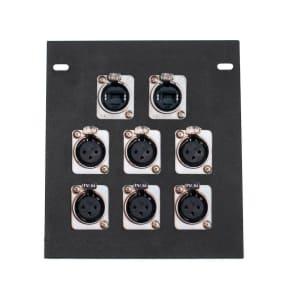 Elite Core Audio FB8-2NE8FD Recessed Floor Box with 6 XLR Female and Dual EtherCon Connectors