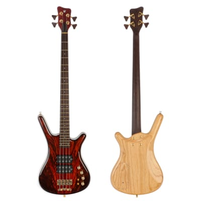 Warwick Custom Shop Corvette $$ Double Buck 4-String Electric Bass - Natural Transparent High Polish - Display Model for sale
