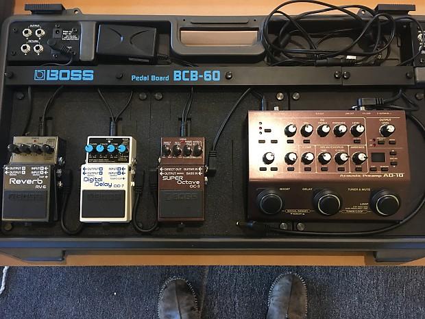 boss acoustic guitar pedalboard 2016 mixed various reverb. Black Bedroom Furniture Sets. Home Design Ideas