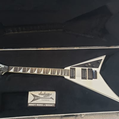 Jackson USA RR1 Randy Rhoads Snow White Pearl with black pinstripes for sale
