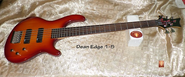 dean edge one 1 guitars4cancer 5 string electric bass. Black Bedroom Furniture Sets. Home Design Ideas