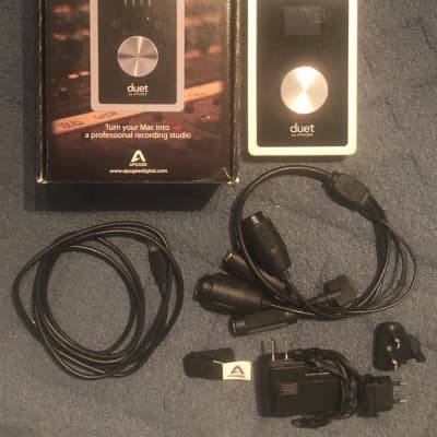 Apogee Duet 2 USB for Mac (2 In x 4 Out Audio Interface) with all accessories