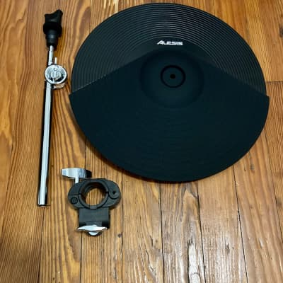 "Alesis 14"" Triple Zone Ride Cymbal NEW (1 Port) w/10"" Boom & Clamp Crash E-Drum Drums Crimson II SE"