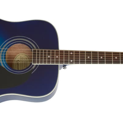 Epiphone PRO-1 Plus Acoustic Guitar - Trans Blue for sale