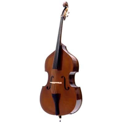 """VB-009-3/4 Palatino Ebony Bass -3/4, Flamed + Carrying bag """"Set Up in USA"""""""
