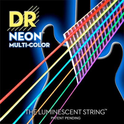 DR NEON™ NMCE10 MultiColor El Guitar Strings 10 46